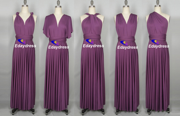 10c4d6cbec8 Weddings Clothing Dresses bridesmaid dress infinity dress convertible dress  wrap dress wedding dress prom dress long grape purple royal blue dress long  ...